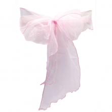 Chair Cover Hire With Baby Pink Organza Sash