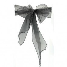 Chair Cover Hire With Black Organza Sash