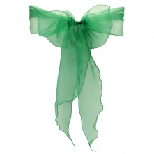 Chair Cover Hire With Emerald Green Organza Sash