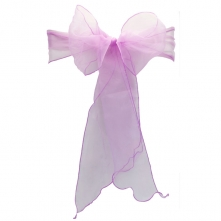 Chair Cover Hire With Lilac Organza Sash