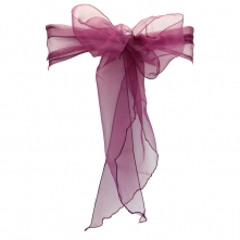 Chair Cover Hire With Plum Organza Sash
