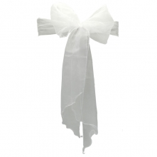 Chair Cover Hire With White Organza Sash